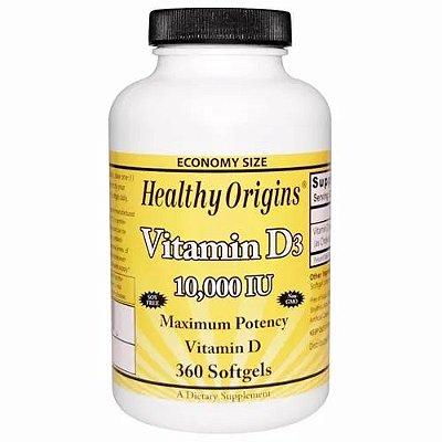 Vitamina D3 10,000 Ui 360 Softgels Pronta Entrega