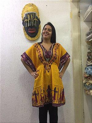 Bata Africana Feminina - Amarela