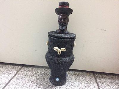 Quartinha Guardião - Exu com chapéu