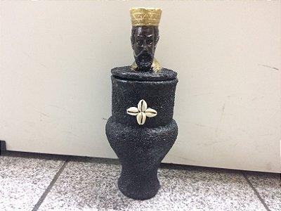 Quartinha Guardião - Exu com coroa