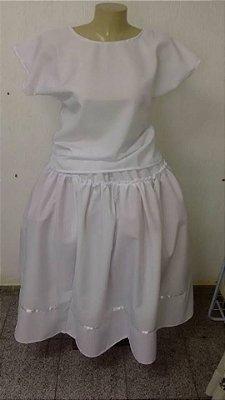 Conjunto Feminino Branco - Oxford 2 peças