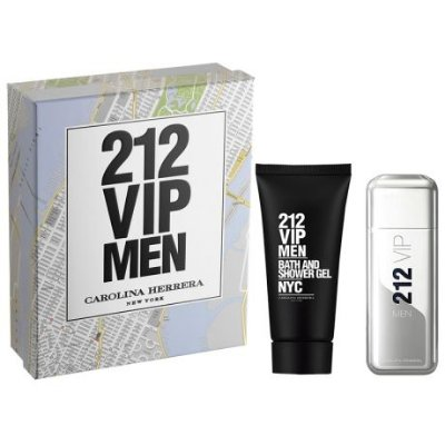 kit Carolina Herrera 212 VIP Men Masculino - Eau de Toilette 100ml + Gel de Banho 100ml