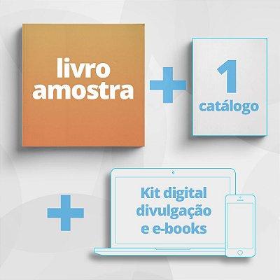 COMBO Consultor - Kit com Livro Amostra + 1 Catálogo + Kit digital de divulgação e e-books.