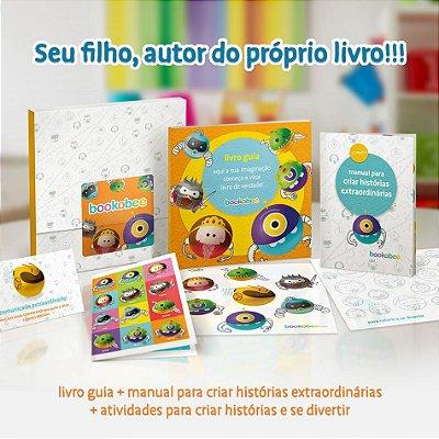 Kit bookobee + 01 exemplar impresso do SEU LIVRO personalizado - Seu filho, autor do próprio livro!!!