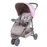 Carrinho De Bebê Triciclo Junne  3 Rodas Baby Style  - Rosa
