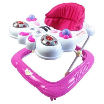 Andador Bebê Infantil Musical Recreativo Abelha Baby Style  ROSA