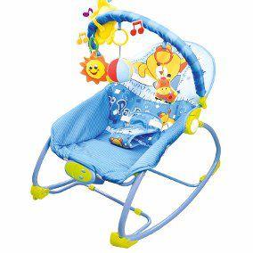 Cadeira Bebê Descanso Vibratória Musical Balanço Até 18 Kg - AZUL