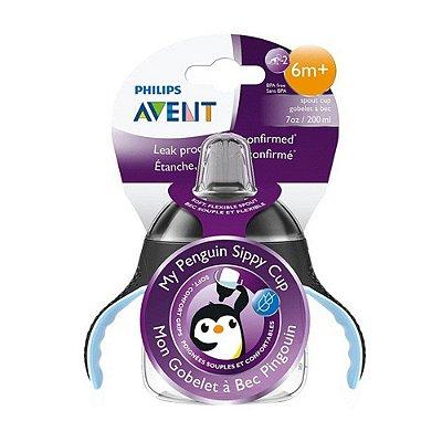 Copo Pinguim Avent Antivazamento 6m+ 200ml - PRETO