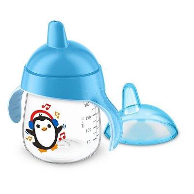 Copo Pinguim Avent Antivazamento 12m+ 260ml - AZUL
