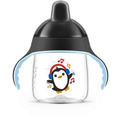 Copo Pinguim Avent Antivazamento 12m+ 260ml - PRETO
