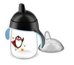 Copo Pinguim Avent Antivazamento 18m+ 340 ml - PRETO