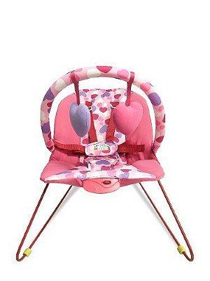 Cadeira Bebê Descanso Vibratória Music Lite Coração Baby Style