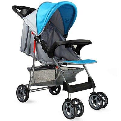 Carrinho de Bebê Berço E Passeio Esmeralda Azul  - Baby Style