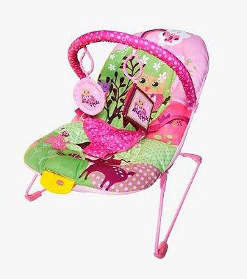 Cadeira Bebê Descanso Vibratória Musical Ballagio - Rosa