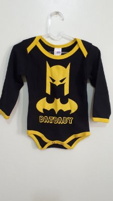 Body Infantil Batman Manga Longa
