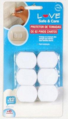Protetores De Tomadas De 2 Pinos Chatos - Love 8832