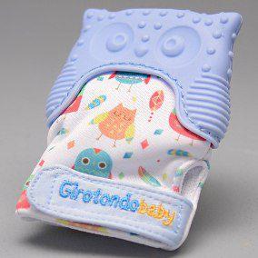 Luva Mordedor Coruja Azul +3 Meses Girotondo Baby