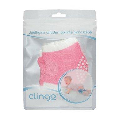Joelheira Para Bebês Rosa Clingo