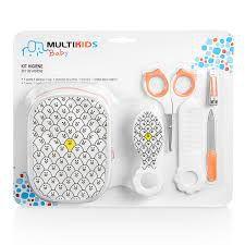 Kit Higiene Infantil Laranja  Multikids 6 Peças