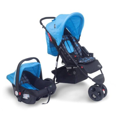 Carrinho Travel System Urban - Azul - Baby Style