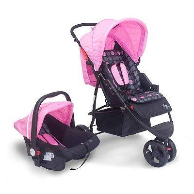 Carrinho Travel System Urban - Rosa - Baby Style