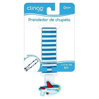 Prendedor De Chupeta - Avião - Clingo