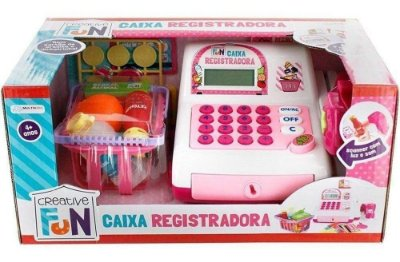 Creative Fun Caixa Registradora Rosa Multikids