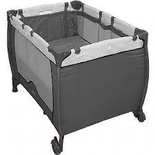 Berço Cercado Compacto Cinza - Baby Style