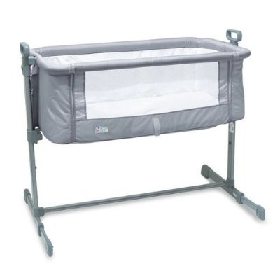 Berço Lateral Side By Side Co-Sleeper Cinza Baby Style