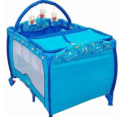 Berço Cercado Plus Oceano Azul - Baby Style