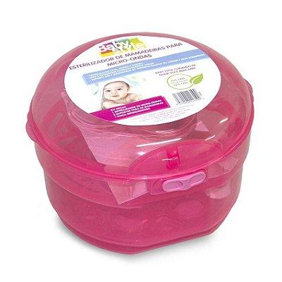 Esterilizador De Mamadeiras Para Microondas Rosa - Baby Style