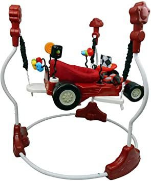 Jumper Quick 360 Graus Com Brinquedos  Vermelho - Baby Style