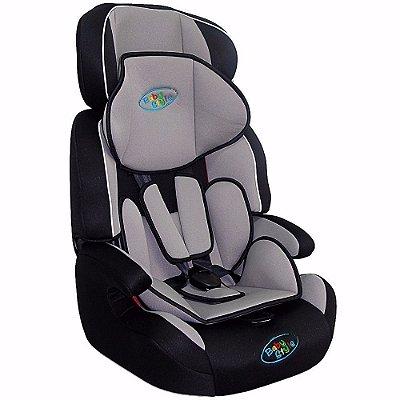 Cadeira Cadeirinha de Carro para Bebê Cometa Baby Style Preta-Cinza