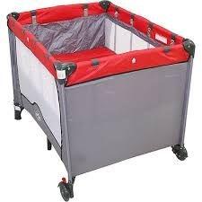 Berço Cercado Portátil Compacto Vermelho  Baby Style