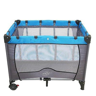 Berço Cercado Portátil Compacto Azul Baby Style