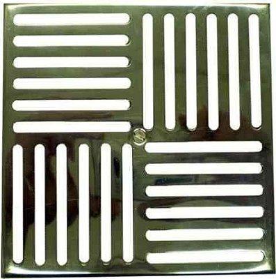 Grade fundo 15x15 inox sem caixilho Sodramar