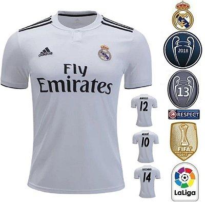bad002510f Camisa Real Madrid 2018-19 (Home-Uniforme 1) -