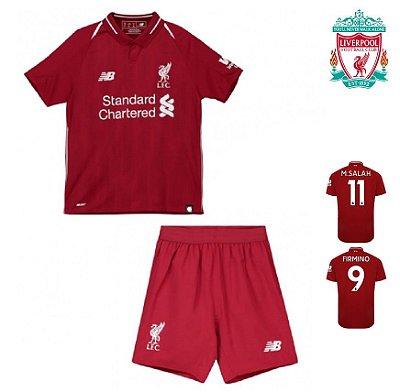 Conjunto Infantil (Camisa + Shorts) Manchester United 2018-19 (Home ... e7b9371a80461