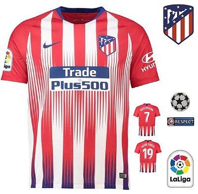 22792c27a8 Camisa Atlético de Madrid 2018-19 (Home-Uniforme 1) -