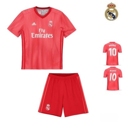 Conjunto Infantil (Camisa + Shorts) Real Madrid 2018-19 (Third-Uniforme 0095729878267