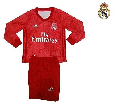 a3ca52b65d Conjunto Infantil (Camisa + Shorts) Real Madrid 2018-19 (Third-Uniforme