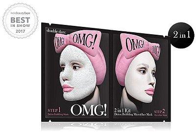 Double Dare OMG! Kit 2 em 1: Máscara Borbulhante Detox OMG e Máscara de Microfibra Hidratante OMG