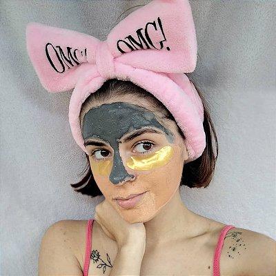 Double Dare OMG! Kit 4 em 1: Adesivo de Ouro 24k para os olhos OMG, Máscara Zona «T» Argila de Carvão Ativado OMG, Máscara de Argila de Caulim OMG, Creme Hidratante Finalizador OMG