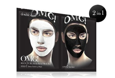 Double Dare OMG! Kit Máscara Facial Detox Masculino Man in Black