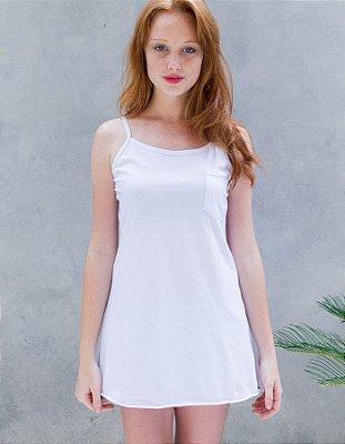 Vestido Costas Branco - Campo Necta