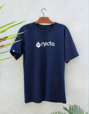 Camiseta Slim-Fit Azul - Logo Necta
