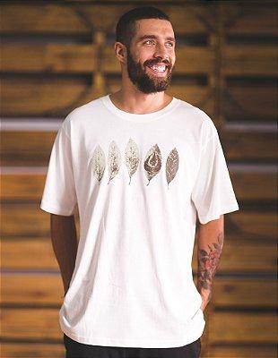 Camiseta Slim-Fit - Folhas Alma Necta