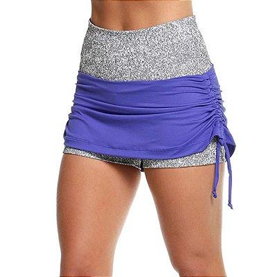 Short saia cós largo e lateral ajustável