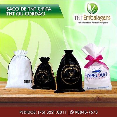 SACOS DE TNT PARA PRESENTE COM FITA TNT - (COM LATERAL) - TNT EMBALAGENS