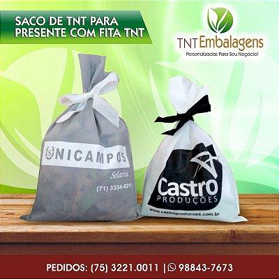 SACOS DE TNT PARA PRESENTE COM FITA TNT - (SEM LATERAL) - TNT EMBALAGENS